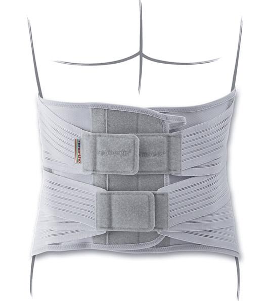 Rendering Frontale del corsetto Lombodorsale. Uno dei prodotti disponibili sull'ecommerce di Orthocare Solution