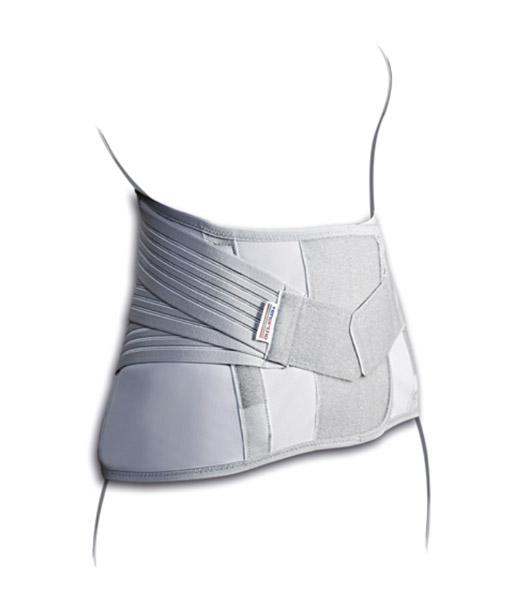 Rendering Posteriore del corsetto Lomboscarale. Uno dei prodotti disponibili sull'ecommerce di Orthocare Solution
