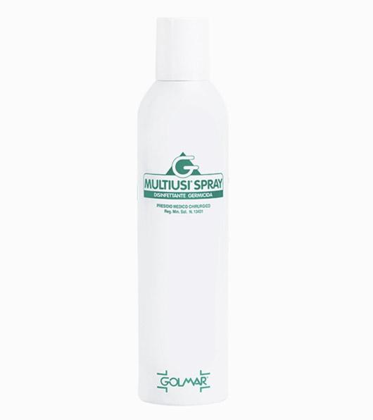 Spray antibatterico multiusi Golmar. Utile contro coronavirus COVID19. Uno dei prodotti disponibili sull'ecommerce di Orthocare Solution